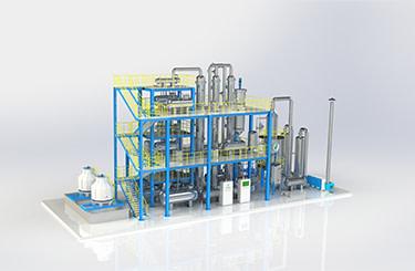 Re refining plant