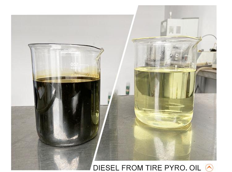 DIESEL FROM TIRE PYRO. OIL